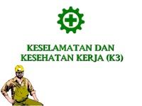 keselamatan dan kesehatan kerja