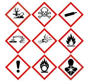hazardous substances sign