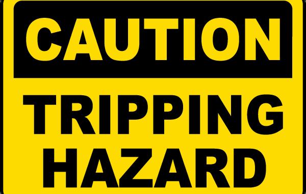bahaya slip trip fall