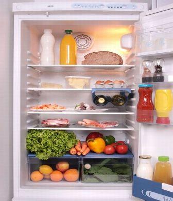 menyimpan makanan di lemari es